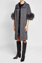 Steffen Schraut Merino Wool Coat with Faux Fur