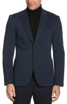Perry Ellis Men's Slim Fit Knit Textured Stretch Jacket