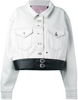 Alyx - button up jacket - women - Cotton/Artificial Leather - M