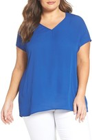 Sejour Plus Size Women's Gathered Back Top