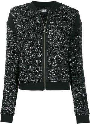 Karl Lagerfeld Paris boucle bomber jacket