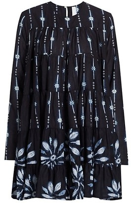 Merlette New York Soliman Shibori Trapeze Dress