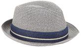 John Lewis Three Twist Trilby Hat, Natural