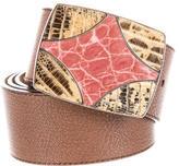 Prada Buckle-Embellished Belt