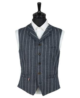 Gibson London Wide Stripe Waistcoat Colour: BLUE, Size: 38