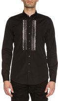 DSQUARED2 Safety-Pin Bib Woven Shirt, Black