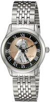 August Steiner Women's CN011SS Silver Quartz Watch with Lincoln Wheat Penny Dial and Silver Bracelet