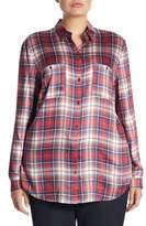 Plaid Long Blouse