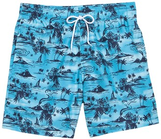 Trunks Surf And Swim Co. Sano Tropical Patterned Boardshorts