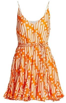 Rhode Resort Casey Belted Batik Cotton Dress