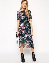 ASOS COLLECTION ASOS Reclaimed Vintage Rose Print Wrap Dress