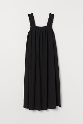H&M Bow-detail A-line Dress - Black