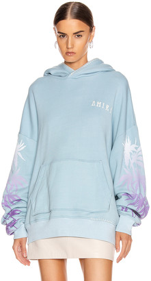 Amiri Oversized Eternal Happiness Hoodie in Light Blue | FWRD
