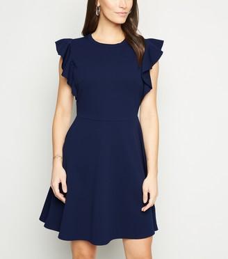 New Look Mela Ruffle Sleeve Skater Dress