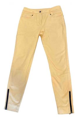 Louis Vuitton Yellow Cotton Jeans