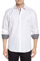 Bugatchi Men's Classic Fit Check Jacquard Sport Shirt