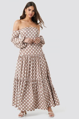 Kae Sutherland X NA-KD Polka Dot Maxi Dress