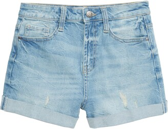 Treasure & Bond High Waist Roll Cuff Shorts