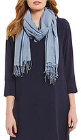 Eileen Fisher Handloomed Organic Cotton Checkerboard Scarf