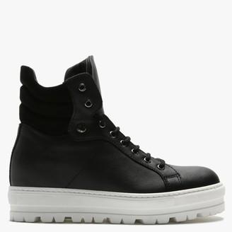 Daniel Secret Black Leather Sporty Ankle Boots