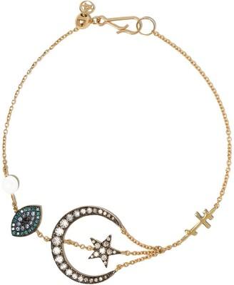 Annoushka 18kt yellow gold Love Diamonds Lunar bracelet