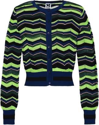 M Missoni Striped Crochet-knit Cardigan