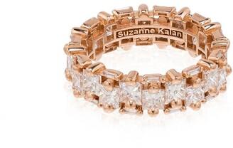 Suzanne Kalan 18kt Rose Gold Diamond Eternity Ring