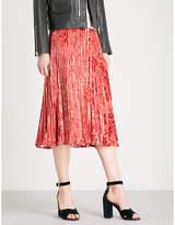 Whistles Harlow pleated devoré skirt