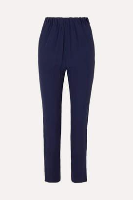 Marni Crepe Straight-leg Pants - Navy