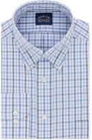 Eagle Men's Big and Tall Classic/Regular Fit Non-Iron Flex Collar Blue Check Dress Shirt