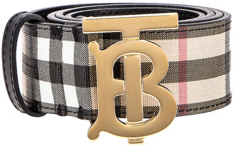 Burberry Vintage Check Belt in Archive Beige | FWRD