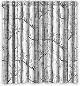 """Funny Shower-curtain 66""""(w) x 72""""(h) Cute White Birch Trees Bathroom Shower Curtain Shower Rings Included, 100% Polyester"""