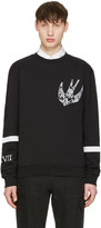 McQ by Alexander McQueen Black Paisley Swallow Clean Pullover