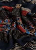 Mango Outlet Jacquard scarf