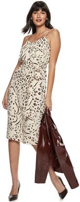 Nine West Women's Belted Slip Dress