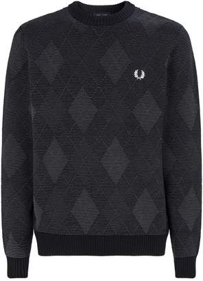 Fred Perry Knit Argyle Sweater