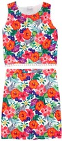 Blush by Us Angels Girls' Floral Tank & Skirt Set