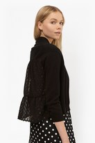 French Connection Bow Fringe Cropped Cardigan