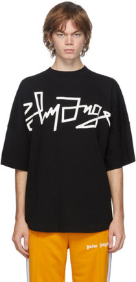 Palm Angels Black Desert Over Logo T-Shirt