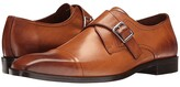 Massimo Matteo Single Monk Cap Toe (Burnished Brandy) Men's Shoes