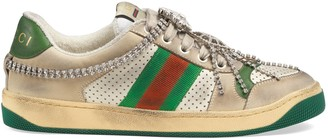 Gucci Women's Screener sneaker with crystals
