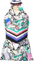 Roberto Cavalli animal print sleeveless top