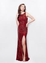 Primavera Couture - 3037 Beaded Jewel Neck Sheath Dress