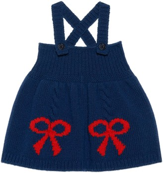 Gucci Baby wool bow jacquard dress