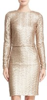 Alice + Olivia Women's 'Lebell' Fitted Sequin Crop Top