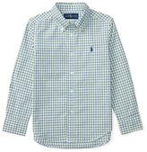 Ralph Lauren Boys 2-7 Cotton Poplin Button-Down Plaid Shirt