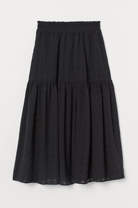 H&M Textured-weave Skirt