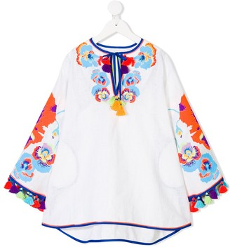 Yuliya Magdych Kids Pansies Tunic Dress