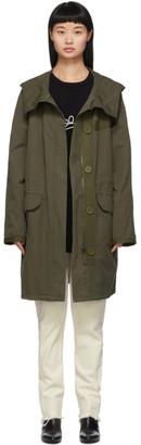 Yves Salomon   Army Yves Salomon - Army Khaki Cotton and Linen Parka