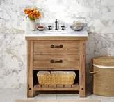 Pottery Barn Benchwright Reclaimed Wood Single Sink Console - Wax Pine Finish